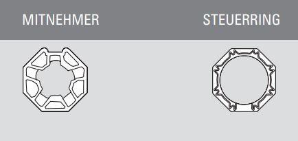 Simu Adaptersatz für Achtkantwelle 40 mm