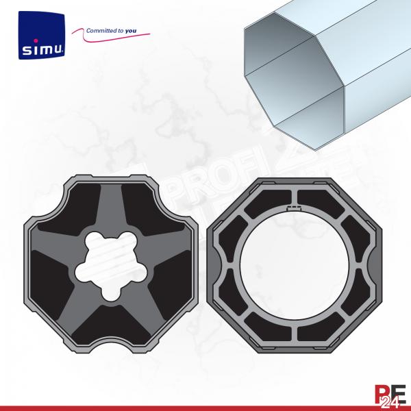 Simu T5 für Achtkantwelle 125 mm | Adaptersatz