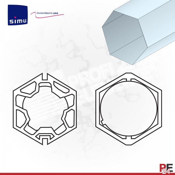 Simu T5 für Sechskantwelle 75 mm | Adaptersatz
