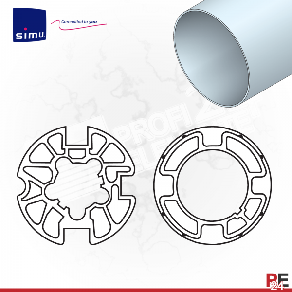 Simu T3,5 für Rundwelle 53x2 mm | Adaptersatz