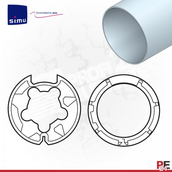 Simu T5 für Rundwelle 70x0,8 mm | Adaptersatz