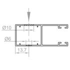 B | Bohrung Schenkelseitig (Montage auf Fassade oder Fenster)