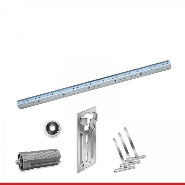 Maxi Stahlwellen für Kästen bis 4,75m mit Aufhängung | Komplettset 60er Welle