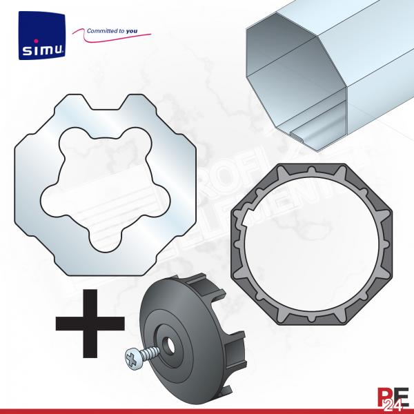 Simu T6 für Achtkantwelle 70 mm (ab 80 Nm) | Adaptersatz