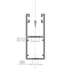 A | Bohrung Stirnseitig (Montage in der Fensterlaibung)