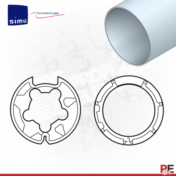 Simu T5 für Rundwelle 70x1,5 mm | Adaptersatz