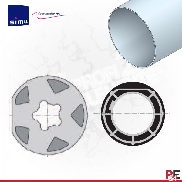 Simu T6 für Rundwelle 100x2 mm | Adaptersatz