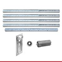 Maxi Stahlwellen für Kästen bis 4,75m | Komplettset 60er Welle Stahlwelle + Walzenkapsel + Aufschraublager + Kugellager