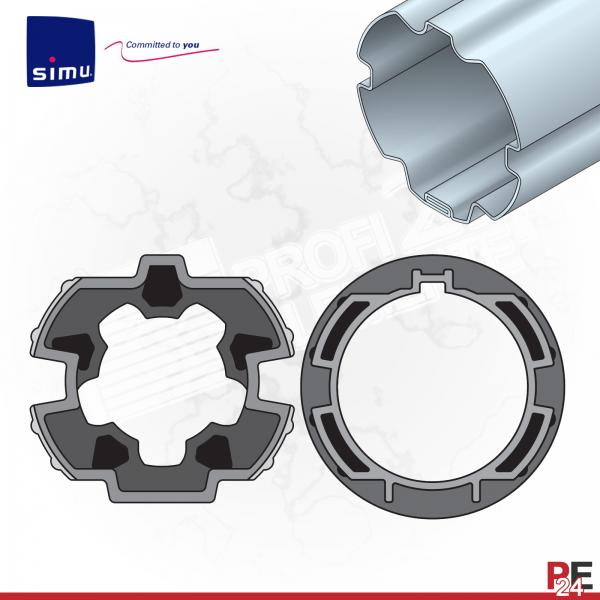 Simu T5 für Rundwelle 64mm | Adaptersatz