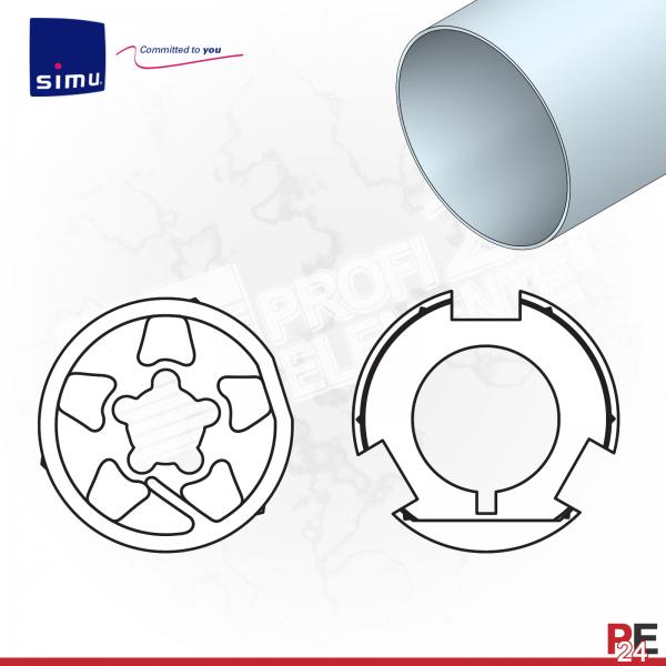 Simu T6 für Rundwelle 133x2,5 mm (Aluminium) | Adaptersatz