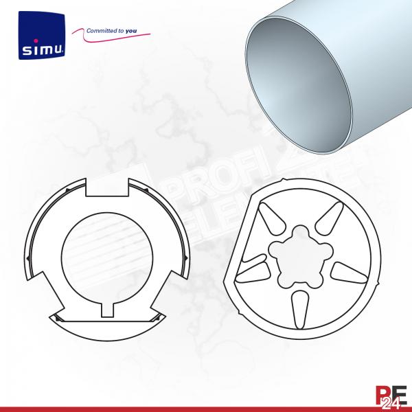 Simu T6 für Rundwelle 102x2 mm (Aluminium) | Adaptersatz