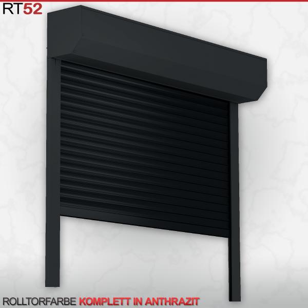 Rolltor für Garage, ALU52, 2200 x 2000 in Anthrazit | Deutscher Fachhändler