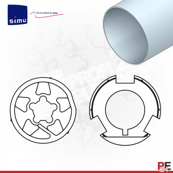 Simu T6 für Rundwelle 108x3,6 mm (Aluminium) | Adaptersatz