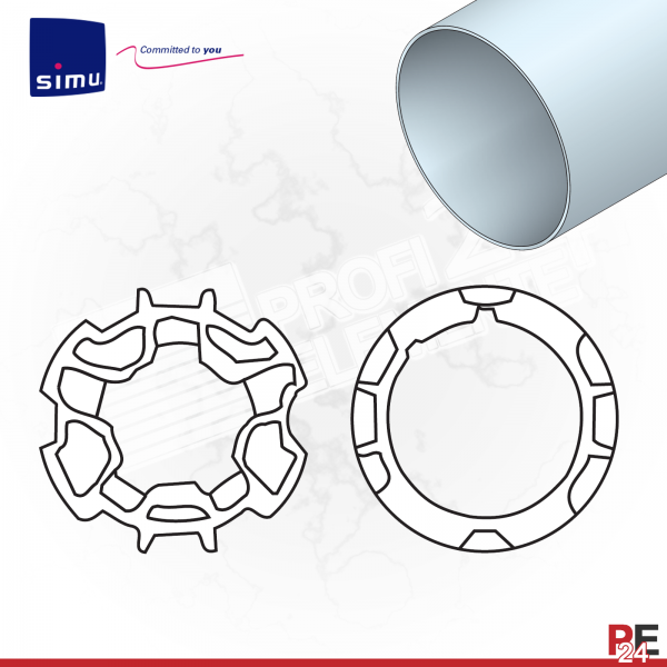 Simu T3,5 für Rundwelle 50x2 mm | Adaptersatz