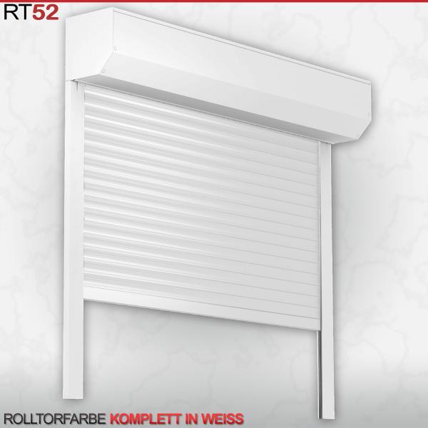 Rolltor für Garage, ALU52, 2200 x 2000 in Weiß | Deutscher Fachhändler