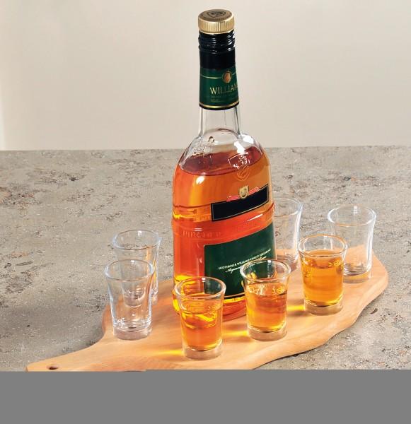 Kesper Schnapsglasträger mit 8 Gläsern   FSC, Buche