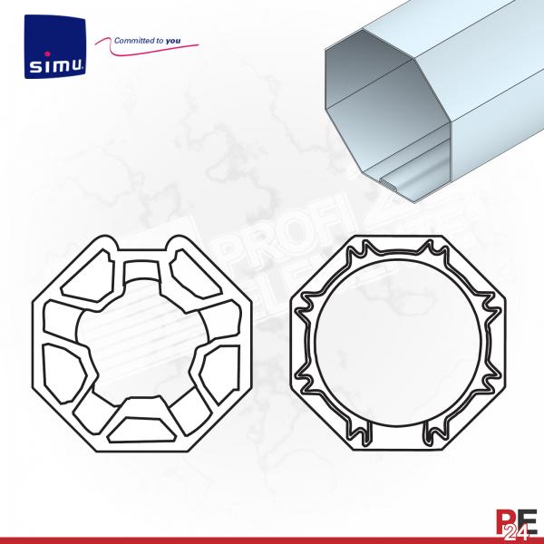 Simu T3.5 für Achtkantwelle 40 mm | Adaptersatz