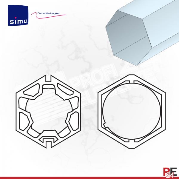 Simu T5 für Sechskantwelle 60 mm | Adaptersatz