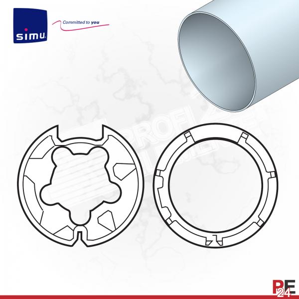 Simu T5 für Rundwelle 60x1,5 mm | Adaptersatz