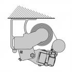 Deckenmontage (Gelenkmarkise)