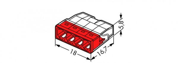 WAGO 2273-204 COMPACT-Verbindungsdosenklemme; 4-Leiter-Klemme