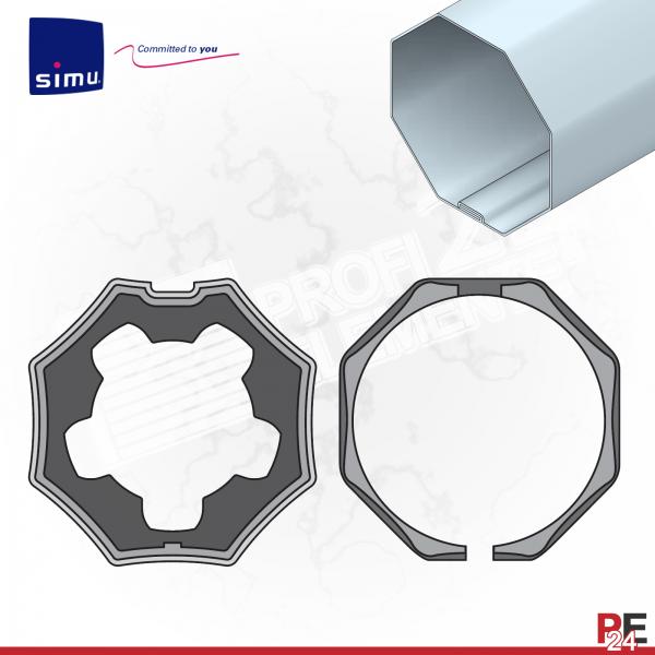 Simu T5 für Achtkantwelle 50 mm | Adaptersatz