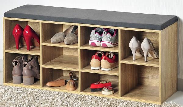 Schuhschrank mit Sitzkissen, FSC