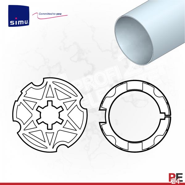 Simu T3.5 für Rundwelle 40 x 1,5 mm | Adaptersatz