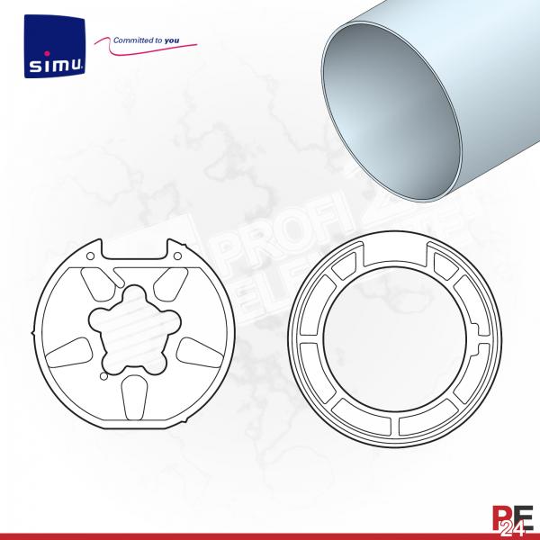 Simu T6 für Nutwelle 78 mm | Adaptersatz