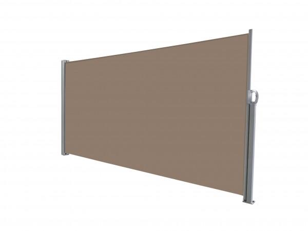 albe Sichtschutz 300x180 in Braun | Seitenmarkise ausziehbar