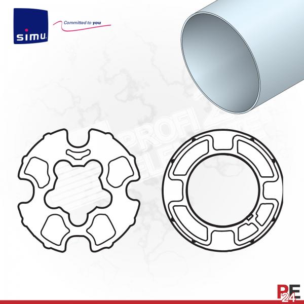 Simu T5 für Rundwelle / Markisenwelle 78 mm | Adaptersatz